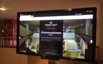 L'Hotel Golden Tulip à Amnéville s'équipe avec un écran tactile Clevertouch