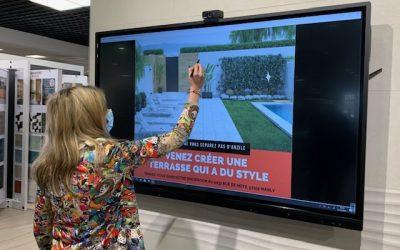 Installation d'un écran tactile chez ANZILE CARRELAGE